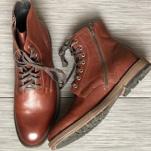 NWT FRYE Authentic Leather Men's Combat Boots